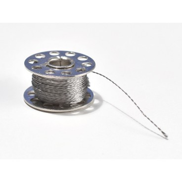 Spool of thread thin 2 strands stainless - 23 m