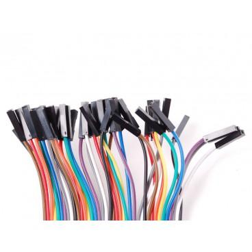 Kit de 40 wires Femelle-Femelle 150mm Premium dupont