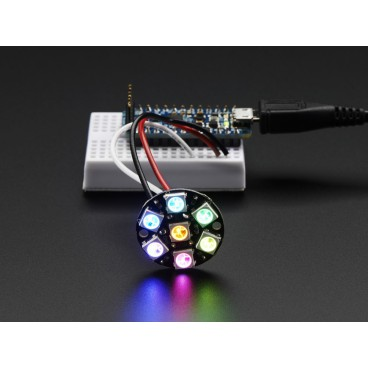 NeoPixel Jewel with 7 LED RGB LED and driver integrated