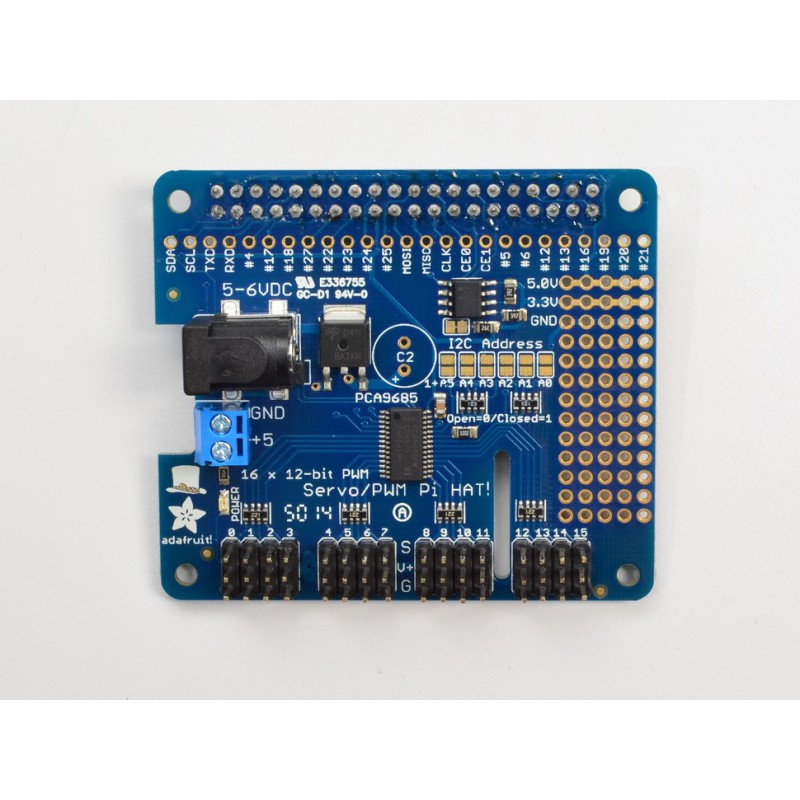 Hat for Raspberry PI - 16 PWM I2C Servo servo