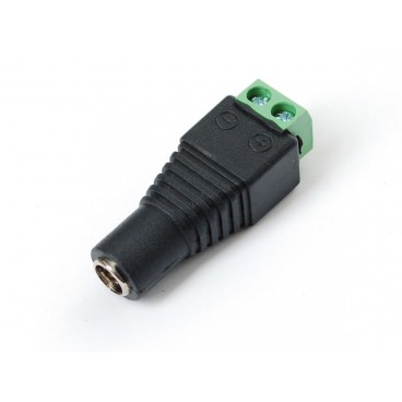 DC Power 2.1 mm female to terminal block adapter