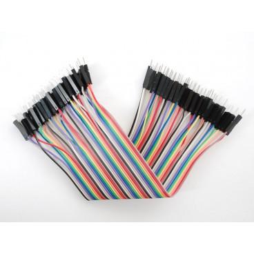 Kit de 40 wires Male-Male 150mm Premium dupont