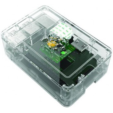 Raspberry PI B + FT2 ft3 Transparent casing