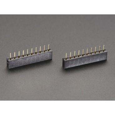 2X Connecteur femelle 1X10 au pas de 2mm ( Xbee)