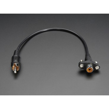 Cable RCA Female/Male for panel mounting