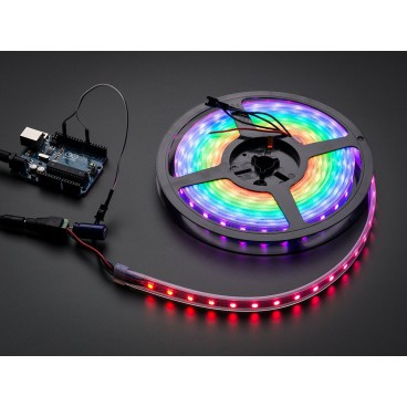 Bande de LED NeoPixel Strip de 60 LED RGB - Blanche - 1m
