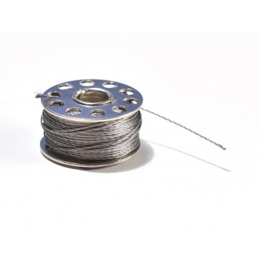 Bobine de fil conducteur mince 3 brins inoxydable - 18 m