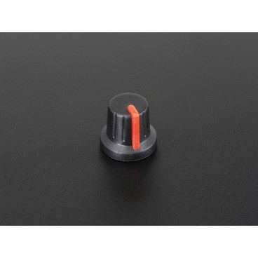 Knob potentiometer Soft Touch T18 - Red