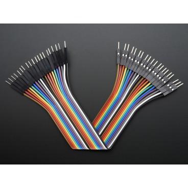 Kit de 20 wires Male-Male 150mm Premium dupont