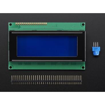 Ecran LCD Standard 20X4 - Blanc sur fond Bleu