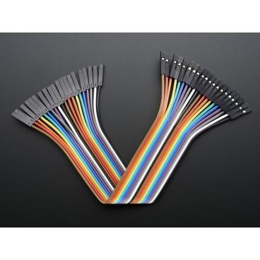 Kit de 20 wires Femelle-Femelle 150mm Premium dupont