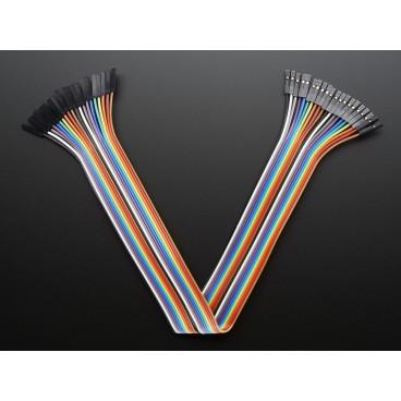 Kit de 20 wires Femelle-Femelle 300mm Premium dupont