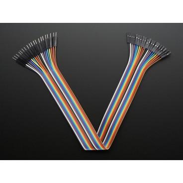 Kit de 20 wires Male-Femelle 300mm Premium dupont