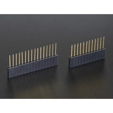 Female stackable connectors 12 and 16 pins for Feather