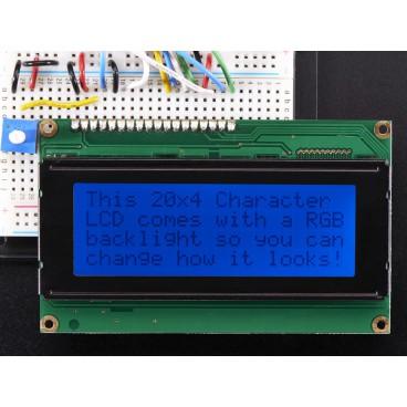 Ecran LCD Standard 20X4 - Noir sur fond RGB