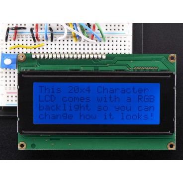 Screen LCD 20 X 4 Standard - Black on background RGB