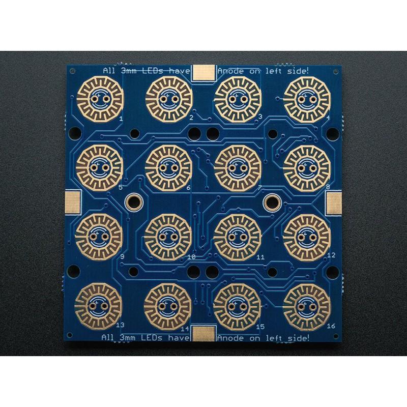 Adafruit Trellis Monochrome Driver PCB pour Keypad 4x4 & LED 3mm