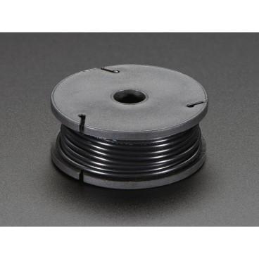 Rigid wire 22AWG black 25 ft spool