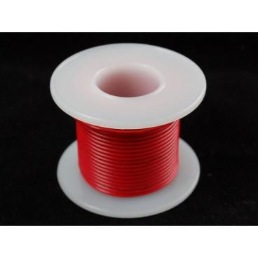 Bobine de fil rigide 22AWG Rouge 25ft
