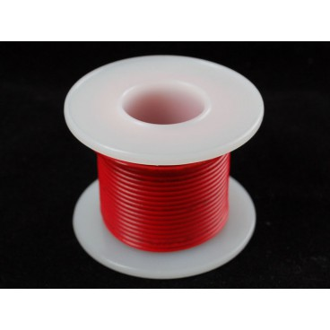 Rigid wire 22AWG red 25 ft spool