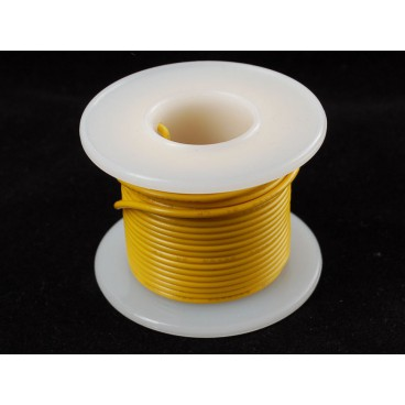 Rigid wire 22AWG yellow 25 ft spool