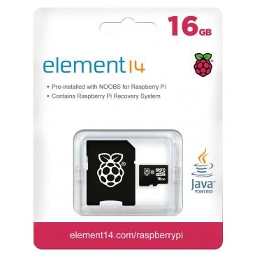 micro SD 16 GB avec Adaptater SD et OS NOOBS