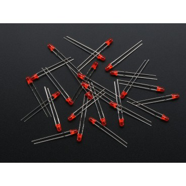 Pack of 25 LED 3mm Red