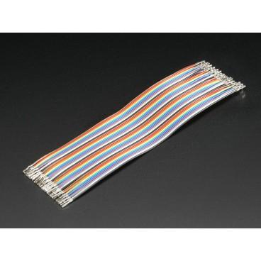 Kit de 40 wires Femelle-Femelle brut Customisable 150mm Premium dupont