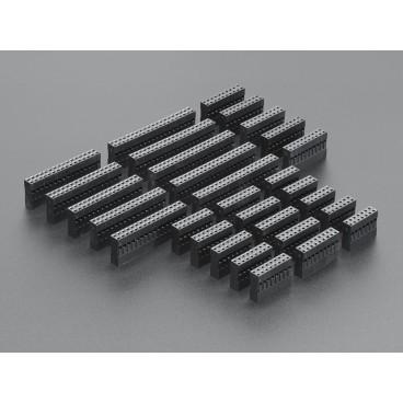 Kit de receptacles large double rangee pour cables customisables