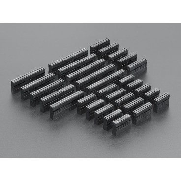 Large receptacles Kit double row for customised cables