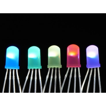 Pack of 5 LED 5mm Diffused NeoPixel