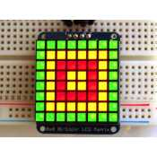 Matrix of 8X8 Bicolor LEDs with I2C backpack