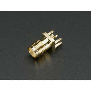 """Edge-Launch SMA connector for 1.6mm 0.062"""" circuit"""