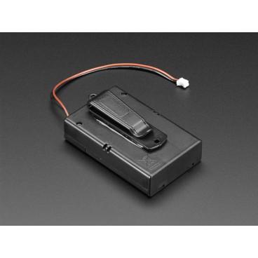 Bloc Pile 3xAA avec connecteur JST et inter ON-OFF et clip ceinture