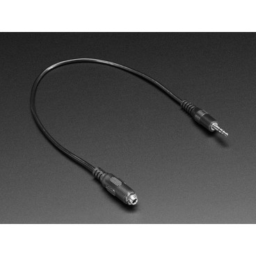 Cable Audio Jack 3.5 mm Male/female for panel mounting