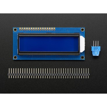 Standard 16 X 2 LCD screen - White on blue background