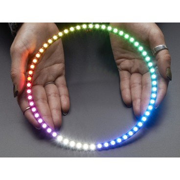 NeoPixel Ring 1/4 60 LED RGBW LED et driver integre - Blanc Cool 6000K