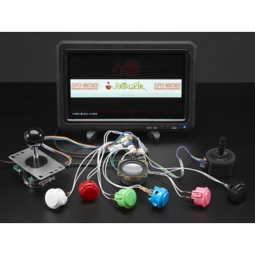 Arcade Bonnet pour Raspberry Pi avec connecteurs JST - Mini Kit