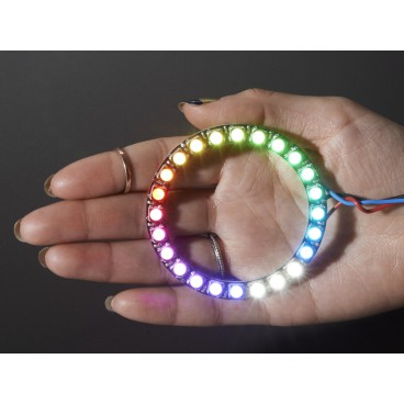 NeoPixel Ring avec 24 LED RGB LED et driver integre - Blanc Cool 6000K