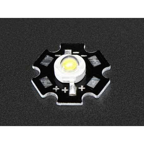 LED 1 Watt Cool white - Mounted heatsink