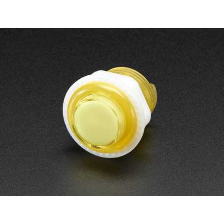 Mini bouton arcade LED - 24mm Jaune Transparent
