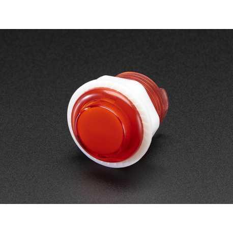 Mini arcade LED button - 24mm Red Transparent