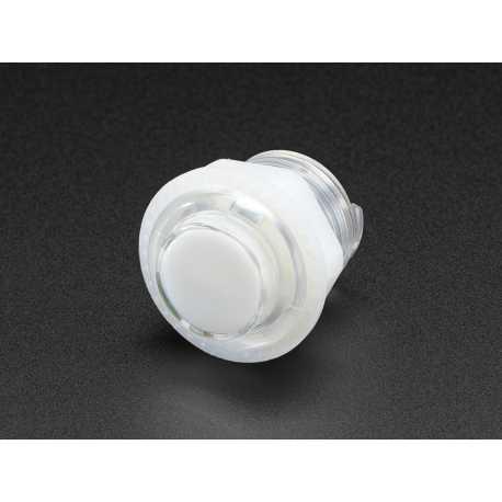 Mini arcade LED button - 24mm White Transparent
