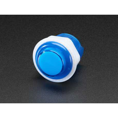 Mini bouton arcade LED - 24mm Bleu Transparent