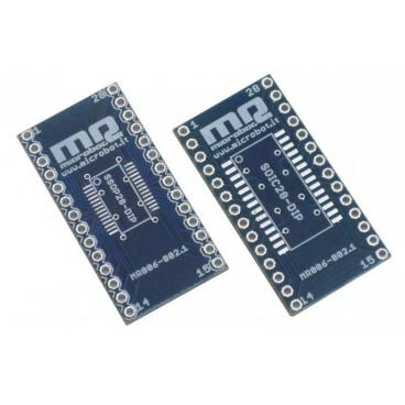 Adaptateur SSOP28-SOIC28 vers DIP