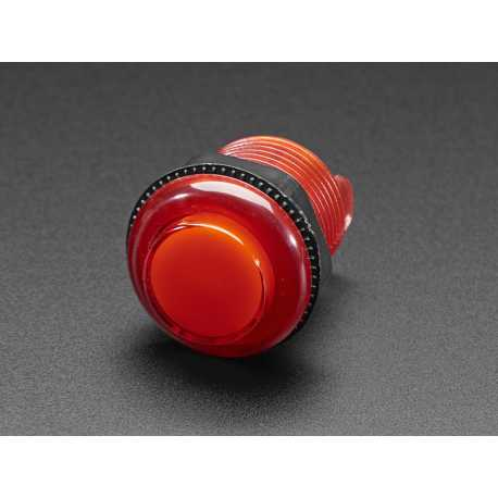 LED Arcade Button - 30mm Clear Red