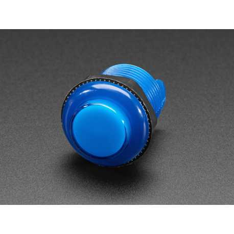 Bouton arcade LED - 30mm Bleu Transparent