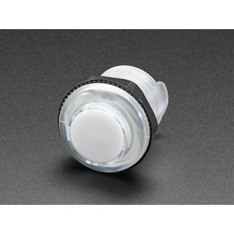 LED Arcade Button - 30mm Clear
