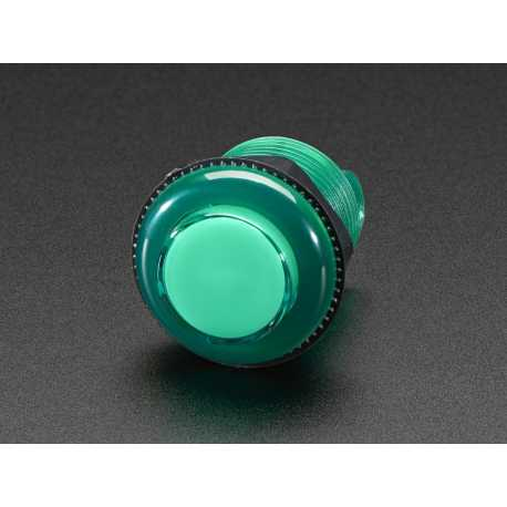 Mini bouton arcade LED - 24mm Rouge Transparent