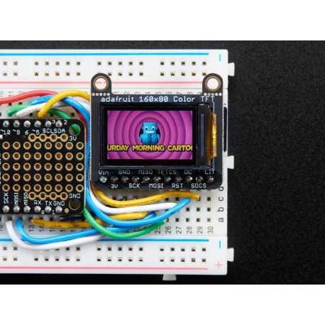 """Ecran TFT 0,96"""" avec MicroSD - ST7735R"""